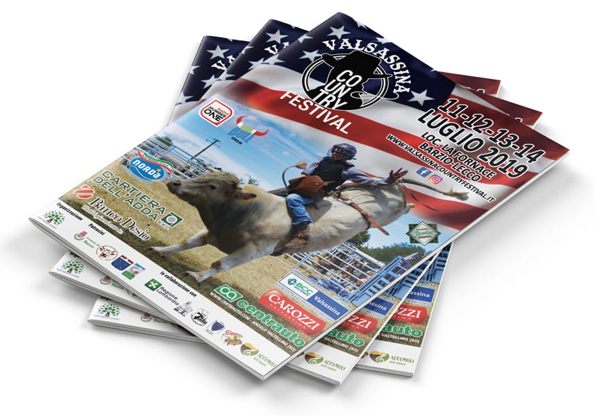 valsassina country festival brochure mockup